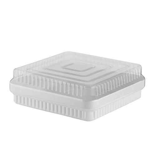 axentia 231269 Tortenbehälter 32.5 x 32.5 x 12 cm eckig