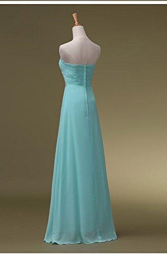Beauty-Emily Trägerloses Pailletten Maxi förmlichen Abendkleider lang Blau - Hellblau