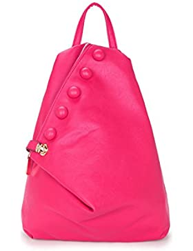Grande stile zaino borsetta da donna con dettaglio bottone e chiusura lampo