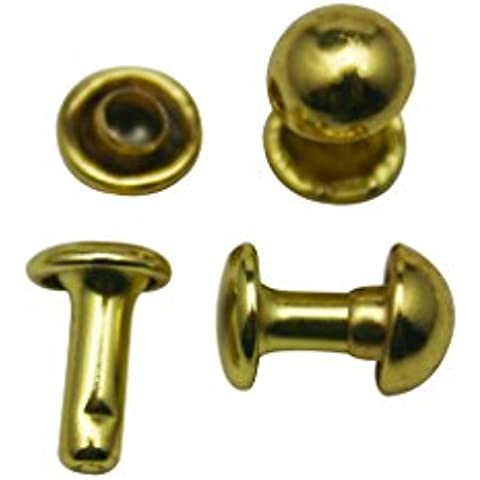 Juego de remaches ciegos gorra Amanteao Golden doble Hunter 6 mm y poste de 8 mm unidades 200 para