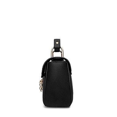Damenmode Rüschen PU Leder Messenger Schulter Mini Taschen / Handtaschen Klt Purple