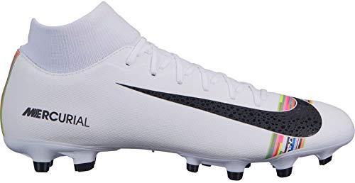 Nike Herren Superfly 6 Academy CR7 MG Fußballschuhe, Weiß (White/Black-Pure Platinum 109), 43 EU