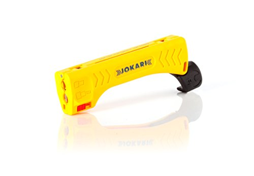 Jokari 30110 Top Coax Plus - mit integriertem Steckschlüssel zum Festziehen von F-Steckern gelb/schwarz