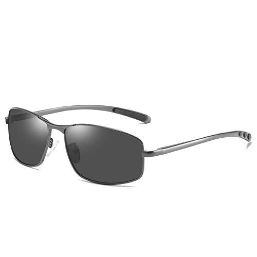 Herren Polarized Sonnenbrillen, Square Anti-Glare Driving Sonnenbrillen,Gun