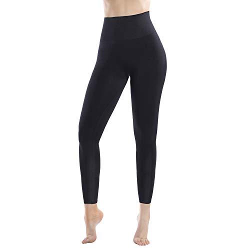 +MD Leggings Vita Alta Shapewear da Donna Body Shaping Belly Away Shaping Leggings Pantaloni da Yoga Nero XL