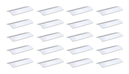 Emuca 9162562 Lote 20 tiradores adhesivos aluminio