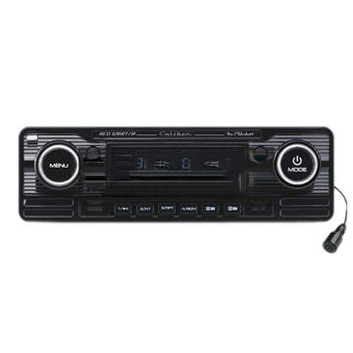 Caliber RCD120BT/B Retrodesign Autoradio mit Bluetooth Freisprechanlage (CD Tuner, SD Kartenslott, USB Anschluss) schwarz