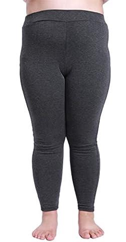 DD.UP Damen Modal Leicht Atmungsaktiv Übergröße Leggings blickdicht Plus Size Hosen