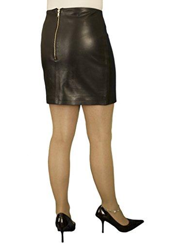 5e1fde03df9e Ashwood for Tout Ensemble Black Luxury Soft Genuine Real Tight Leather Mini  Skirt