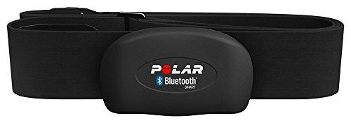 Polar H7, Fascia Cardio con Doppia Trasmissione Bluetooth Smart Adulti Unisex, Nero, M