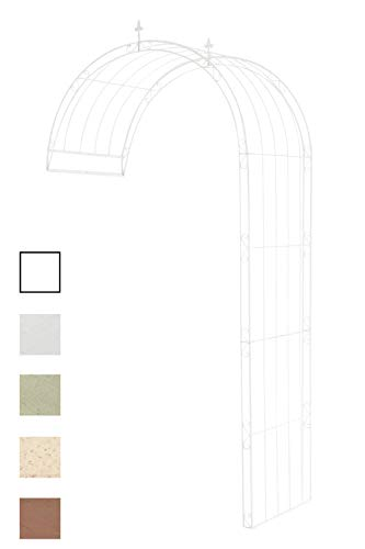 Clp semiarco per piante rampicanti pietro in ferro - sostegno per piante da parete, in stile rustico i semi arco pergolato con fissaggio a muro e a pavimento bianco 130 x 80 x 270 cm