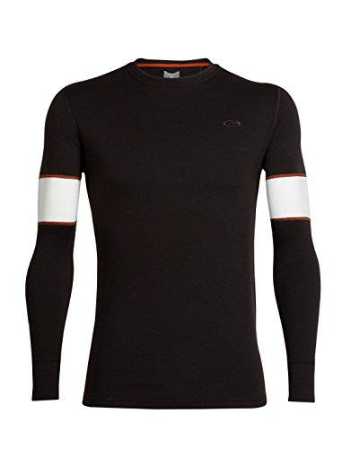 Icebreaker Remarkables Longsleeve Crewe Men - Outdoorpulli Ebony/Snow/Copper