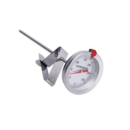 Yardwe Frittierthermometer Candy Sugar Thermometer zum Kochen mit Sondenlänge 150mm -