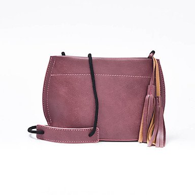 SUNNY KEY-Borsa a tracolla @ Donna Borsa a tracolla PU (Poliuretano) Per tutte le stagioni Baguette Cerniera Rosso Rosa Grigio Viola Marrone , purple blushing pink