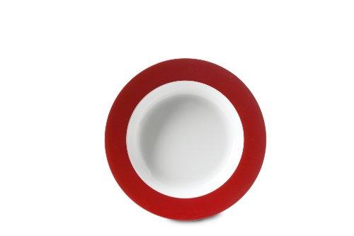 Rosti Mepal Assiette creuse en mélamine légère et résistante Rouge Luna