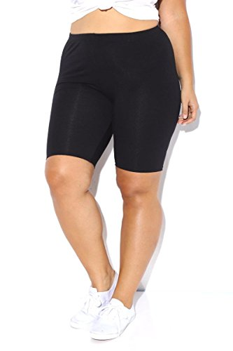 ladies-stretchy-cotton-lycra-over-knee-cycling-short-active-casual-sport-womens-leggings