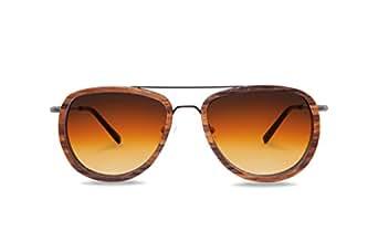 KERBHOLZ Unisex Sonnenbrille Ferdinand Zebrano SUNWFER0082 One Size Gradient Orange