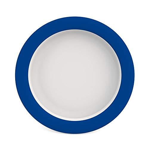 Den Blauen Teller (Ornamin Teller mit Kipp-Trick Ø 26 cm blau (Modell 901) / Spezialteller mit Randerhöhung, Anti-Rutsch-Teller Kunststoff)