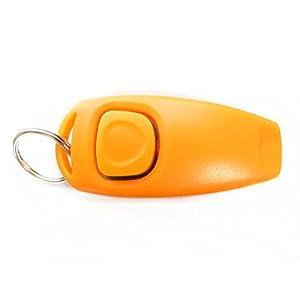 WINOMO Orange Formation Clicker Obéissance Sifflet Clicker Agilité Porte-clés pour Animaux Chien Chiot