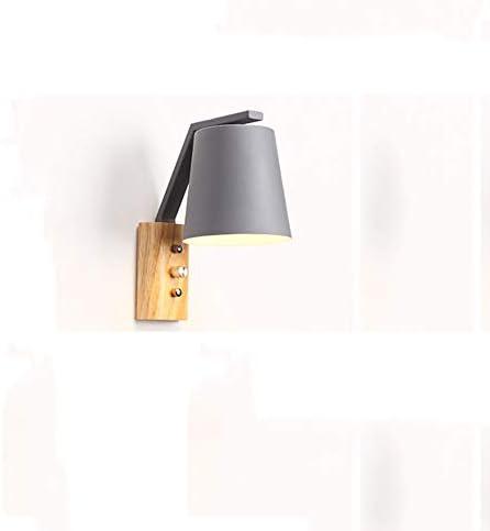 PoJu Creativo in legno massello Lampada da da da parete in ferro con interruttore Lampada da parete Camera da letto Lampada da comodino Studio Torcia Lampada da parete in rovere (Coloree   F) 899d09