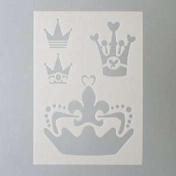 efco Schablone Kronen/4Designs DIN, Kunststoff, transparent, A 5