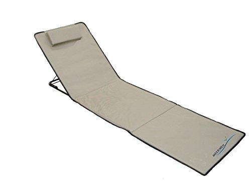 Meerweh Strandmatte XXL mit Lehne Strandliege Isomatte Picknickdecke ca. 200x60cm Sonnenliege,...