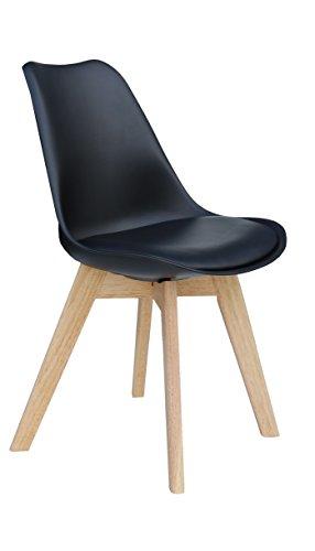 Designer Stuhl 'PARIS' Stuhl Esszimmerstuhl Küchenstuhl Bürostuhl schwarz 221069