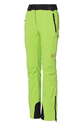 Mello's Campei Damen Hose Farbe Grün, Größe 46, Softshell-Hose Winddicht geeignet für Skitouren Trekking Mountain Wandern