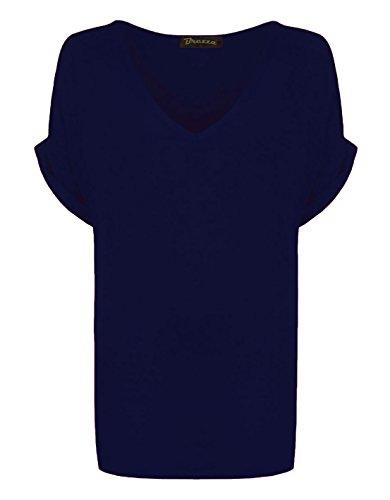 RIDDLEDWITHSTYLE Damen T-Shirt * Einheitsgröße Navy