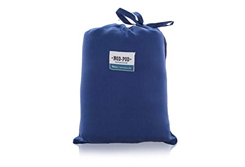 Nod-Pod Schlafsack-Innenfutter, 100% Reine Seide, extra groß und extra luxuriös, blau, Extra Large