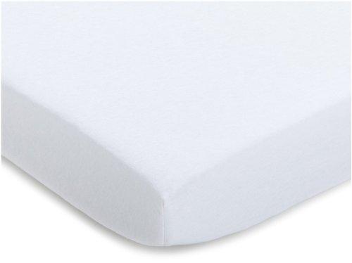Julius Zöllner 8350013100 - Spannbetttuch Jersey für Stillbett, Größe: 50 x 100 cm, Farbe: weiß -
