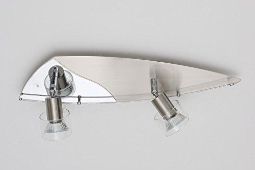 Halogen Strahler mit Glaseinsatz Glory 2 flammig Fassung GU10 Spotleuchte Spot Deckenleuchte Wandlampe