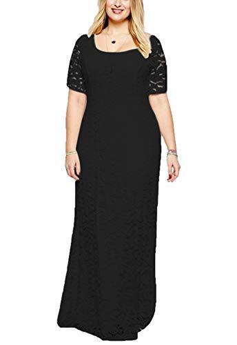 Damen Übergröße schnüren Gefüttert Kleid Festlich Kleider Elegant Lang Abschlussball-BLKleid-BLCocktailparty Ballkleid Brautkleider-BL4XL