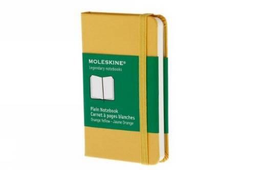 Plain notebook extra small, golden yellow