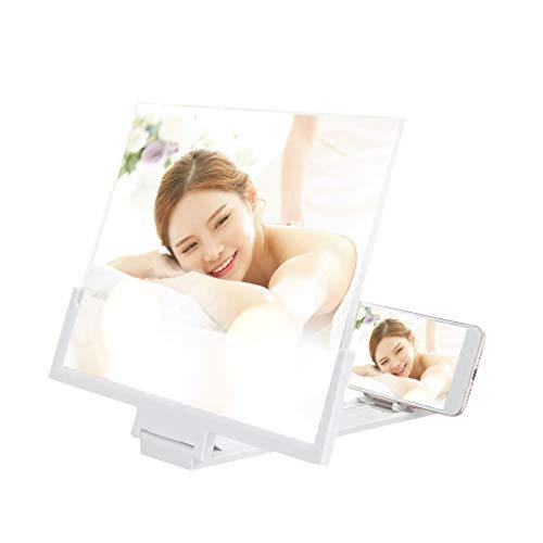 14-Zoll-Bildschirm-Vergrößerungsglas mit klappbarem Ständer, 3D Tragbarer Faltbarer Bildschirm Bildschirmlupe, Filmverstärker, Projektor, geeignet für das Ansehen von Filmvideos auf Allen Smartphones