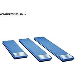 00062MP07 mesas para trampolines anchura 0,40m, color blanco. longitud 2,0m, Poliéster y fibra de vidrio