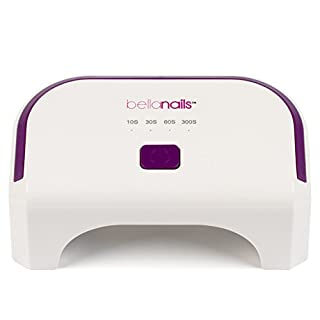 BellaNails Professional 4 Time Presets and Auto Shutoff 12W LED Nail Lamp for Gel Polish Including Shellac