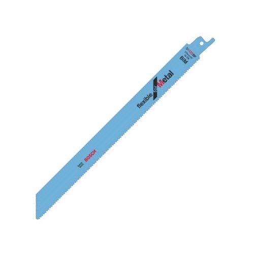 Bosch lame de scie sabre pour le métal S 1122 BF BIM Flexible for Metal coupe affleurante flexible coupe rapide 5 pièces 2608656019