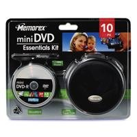 memorex-8cm-14gb-mini-dvd-camcorder-essentials-kit-storage-accessory-kit-with-10-mini-8cm-dvd-r