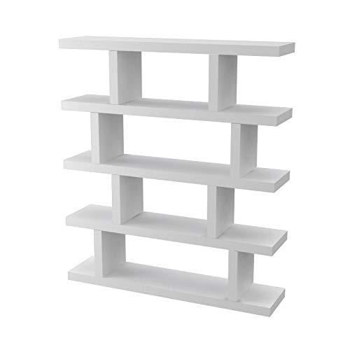 Ve.ca-italy libreria armony mensola libri design in legno di alta qualita' made in italy in 11 differenti colorazioni spessore 4 cm (bianco)