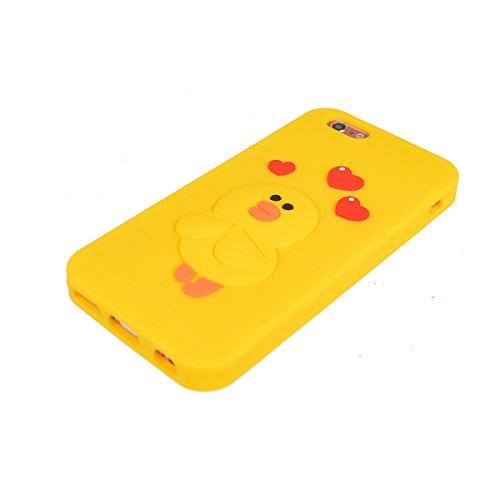 iPhone 6 Plus Hülle,COOLKE 3D Fashion Klassische Karikatur weiche Silikon Shell Schutzhülle Hülle case cover für Apple iPhone 6 Plus/ iPhone 6s Plus (5.5 inches) - 010 008