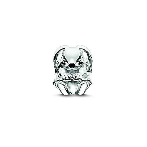 Thomas Sabo Damen-Bead Hase Karma Beads 925 Sterling Silber schwarz Zirkonia schwarz K0191-041-11