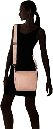 Mandarina Duck Damen Mellow Leather Tracolla Schultertasche, 10x24x25.5 cm Pink (Dusty Rose)