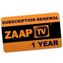 Preisvergleich Produktbild ZaapTV 1 Jahr Verlängerung für HD409N, HD509N, HD509N II, CloodTV und Greek
