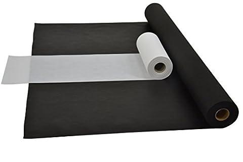 Sensalux Kombi-Set 1 Tischdeckenrolle 1m x 25m + Tischläufer 30cm (Farbe nach Wahl) Rolle schwarz Tischläufer