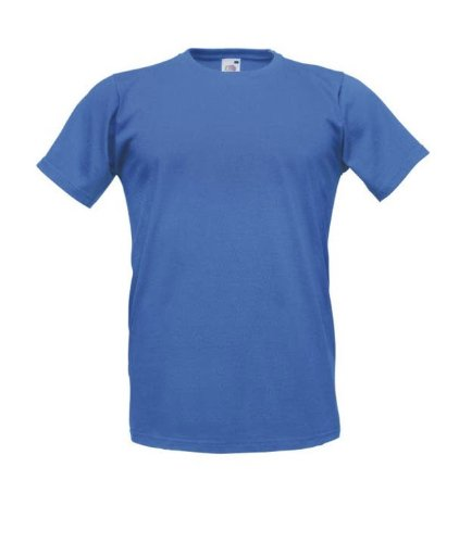 Fruit of the LoomHerren T-Shirt Blau - Königsblau