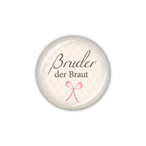 "Button ""Bruder der Braut"""