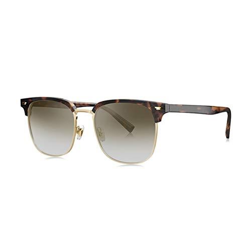 LIUXIN D-Typ Platte Sonnenbrille aus Metall männlich polarisierte Sonnenbrille Mehrfarbig optional Sonnenbrillen (Color : E)