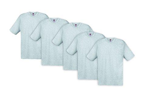 Fruit of the Loom Herren T-Shirt 3er Pack Grau (Grey 79)