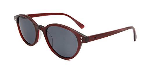 LKVNHP Hohe Qualität Polarisierte Sonnenbrille Frauen Uv400 Männer Vintage Glas Runde Oculos Feminino Hipster Brille Gafas De Sol RetroRetro Glas Rot